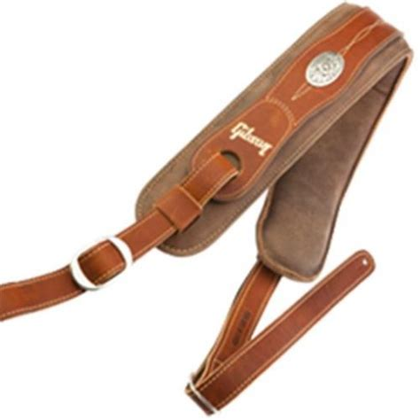 comfort guitar strap gibson the austin comfort brown premium guitar strap asau brn