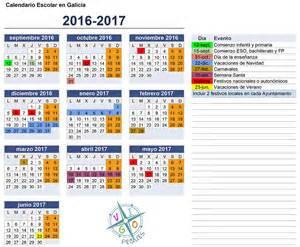 Calendario Xunta Calendario Escolar Galicia 2016 2017 Vigopeques