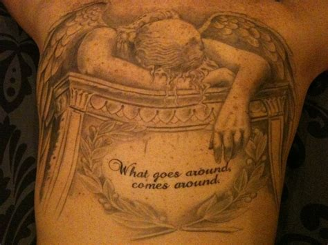 this is a tattoo called angel of grief this has my dad s angel of grief tattoo by derdygirl on deviantart