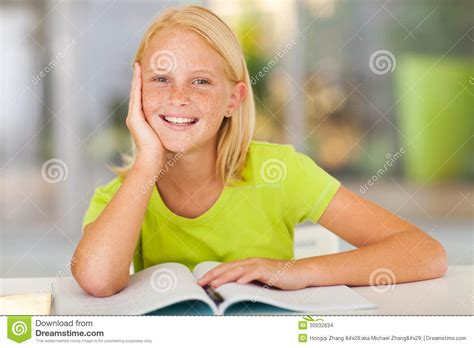 cute preteen preteen girl home stock images image 30932834
