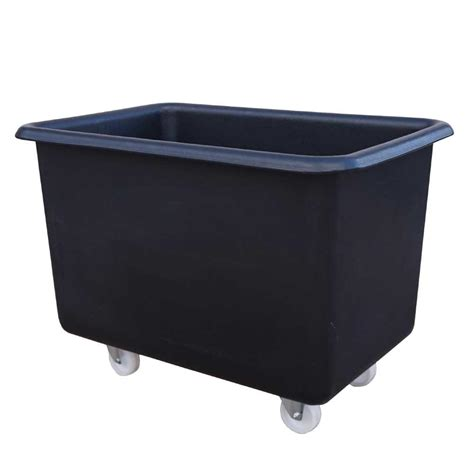 wheeled plastic container black palletower