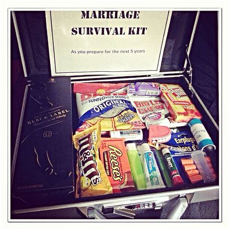 Wedding Gift Kits by Marriage Survival Kit Gave This To My Husband As A