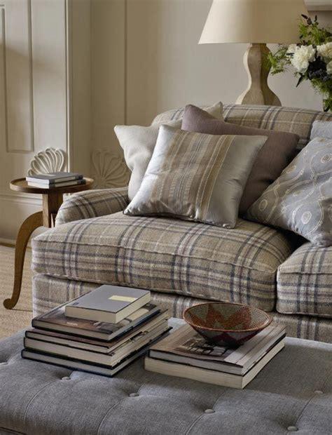 tartan sofas checks interiors pinterest