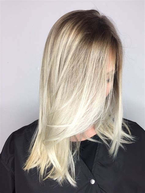 perfect shadow root on blonde hair shadow root with platinum blonde ends yelp