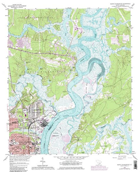topographic maps carolina charleston topographic map sc usgs topo 32079h8