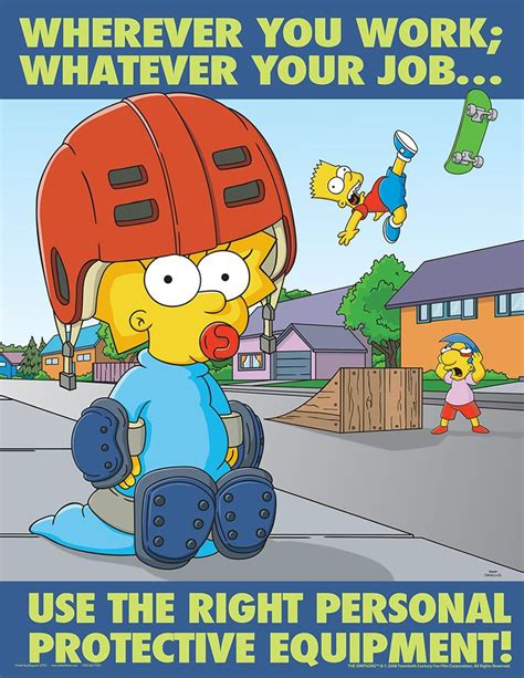 simpsons poster posters personal protective equipment