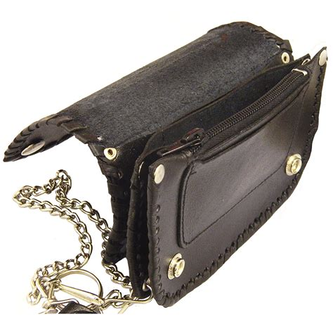 leather bike bikers paradise leather biker wallet