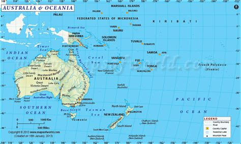 map of oceania australia s neighbouring countries pathfinders