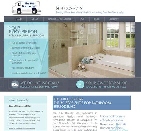 bathtub doctor 100 plumbing websites for design inspiration