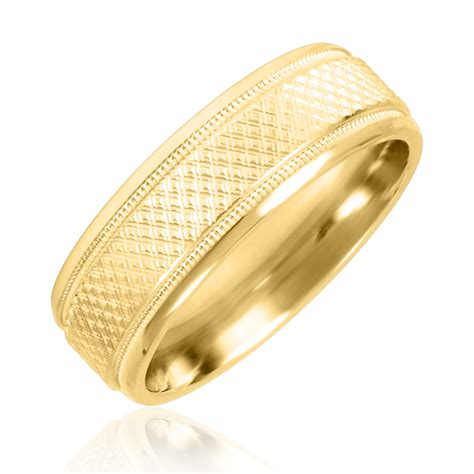 14k Yellow Gold Wedding Band by Zig Zag Mens Wedding Band 14k Yellow Gold My Trio Rings