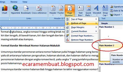 membuat nomor halaman romawi boiklop cara membuat halaman makalah nomor halaman