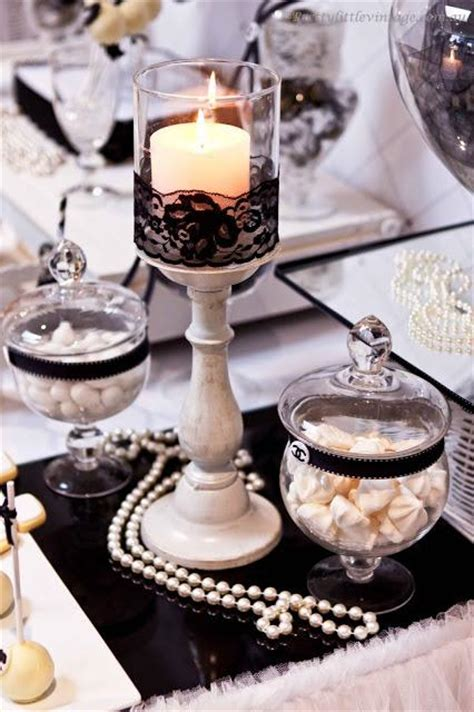 Chanel Inspired Home Decor by Chanel No 30 Themed Table By Pretty Vintage