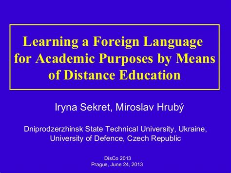For Academic Purposes A Successful Way To Learn Scientific disco 2013 sekret and hrub 253 learning a foreign language