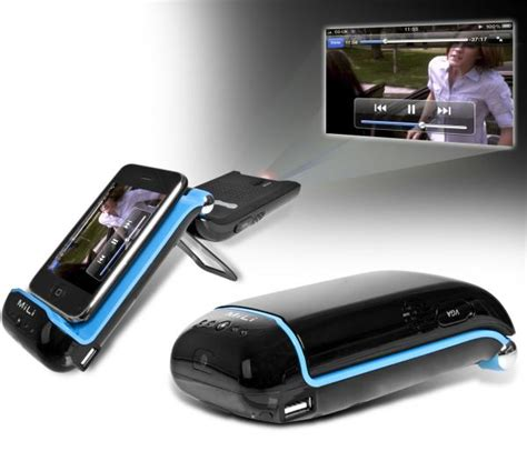 iphone projector portable iphone mobile phone pico projector mini by milli the gadgetshop