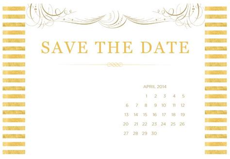 4 Printable Diy Save The Date Templates Save The Date With Photo Templates