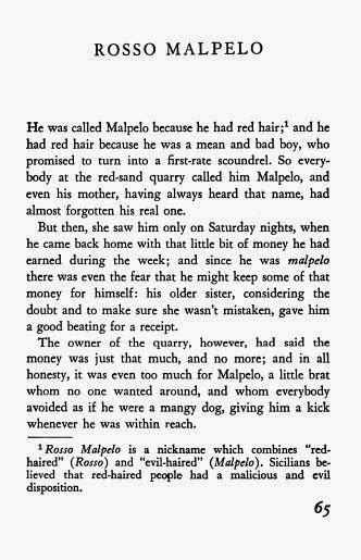 """The Myths and History of Red Hair: Rosso Malpelo - """"Evil Hair"""""""
