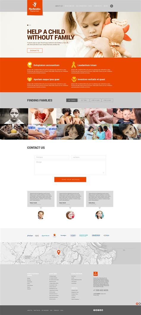 Child Charity Responsive Website Template 52070 Charity Web Templates