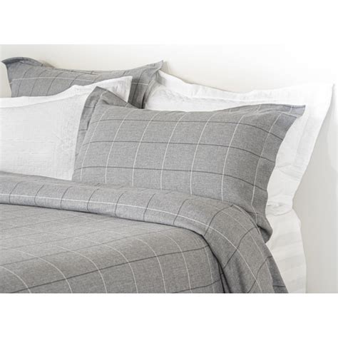grey pattern duvet cover design port acton grey windowpane brushed cotton duvet