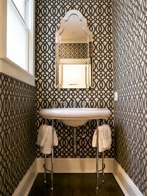 powder rooms with wallpaper 25 gorgeous powder rooms that can amaze anybody digsdigs