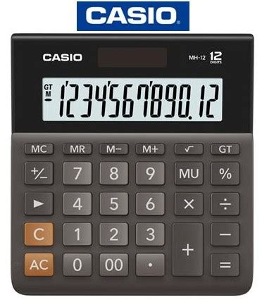 Casio Dh 12 Bk casio calculators casio mini desk top 12 digit calculator mh 14 bk w dh