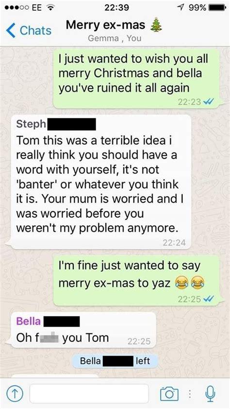 man adds  previous girlfriends  whatsapp group     merry  mas   chaos