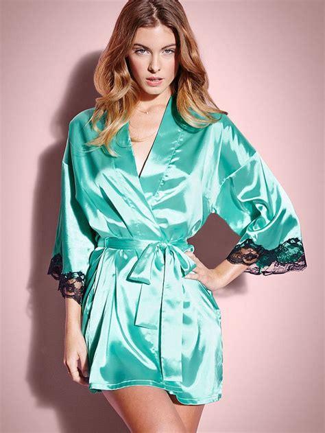 Blouse Kimono Luvie Tantra Harlow Satin Kimono Robe Dress Up Time