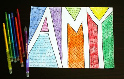 doodle colored name the pinch a nook toddler thursday doodling