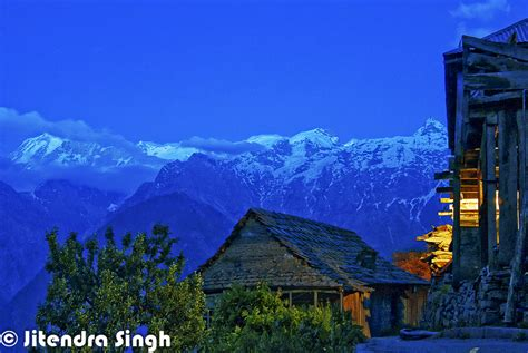 House At Pooh Corner by Snow Covered Region Of Kinnaur District In Himalayan State Of India Himachal Pradesh India