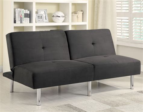split sofa bed 300206 charcoal microfiber split back sofa bed from