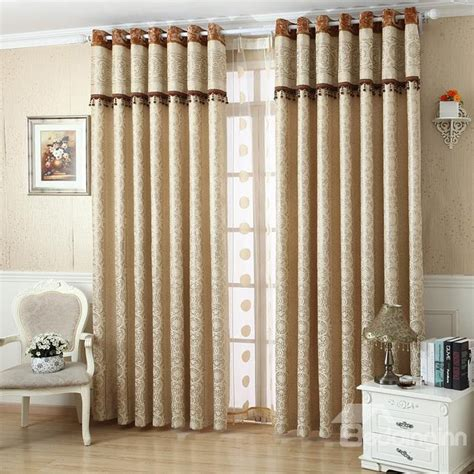 dark gold european design beautiful bedroom curtains european style contemporary luxury jacquard grommet top
