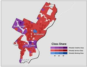the map above charts class concentrations for the city of