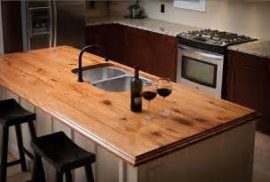 more green home ideas we reclaimed wood countertops