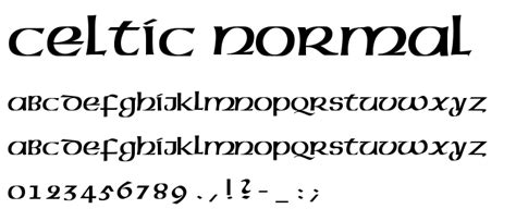 celtic normal font gothic celtic category pickafont com