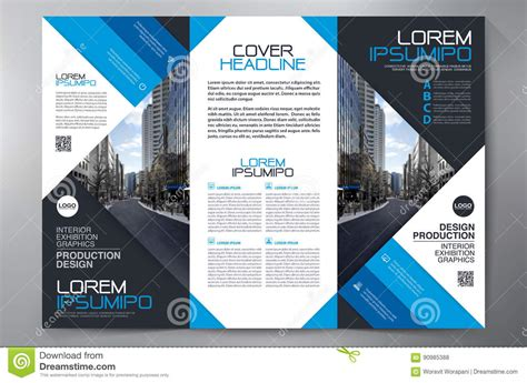 brochure 3 fold flyer design a4 template stock vector