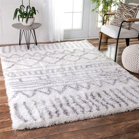 white area rug gray and white shag rug rugs ideas