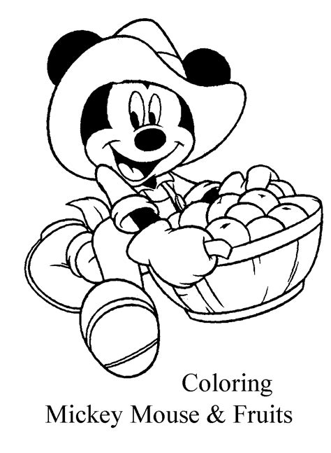 mickey mouse learning coloring pages disney mickey mouse fruits coloring pages learn to