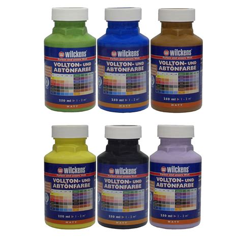 acrylic paint mixing silver wilckens tinting paint mixing acrylic painting 6 colours 250ml
