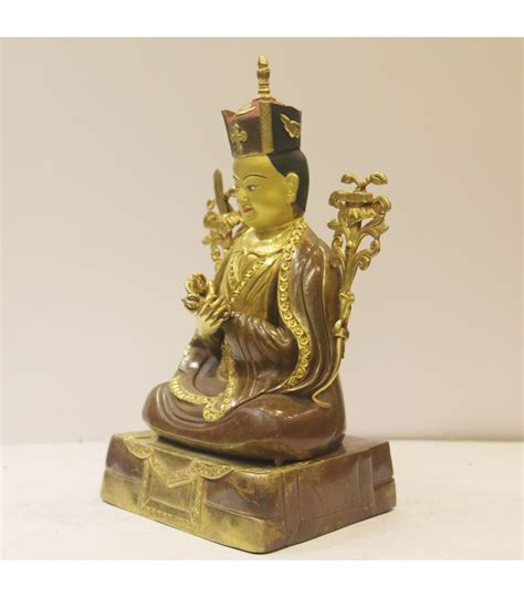 Handmade Statues - 14 inch 16th karmapa statue gold glided handmade in nepal