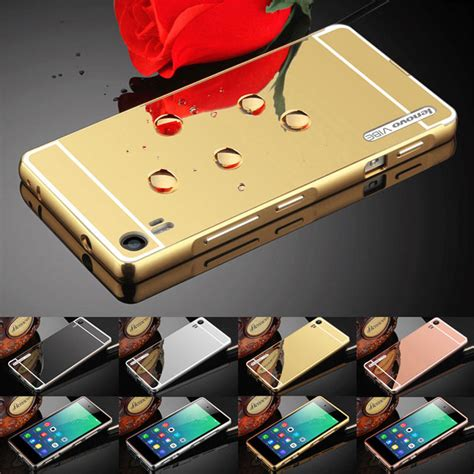 Lenono A6000 A 6000 Bumper Metal Aluminum Frame Ca Murah luxury mirror back cover metal aluminum frame for lenovo a6000 a7000 a7010 k4 note k5 note