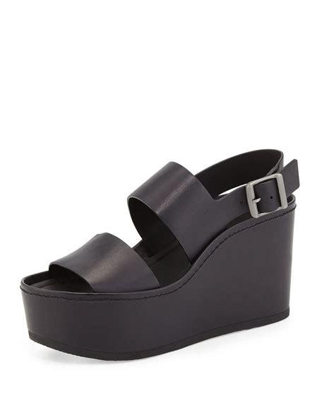 Sandal Idalia vince idalia leather platform sandal black
