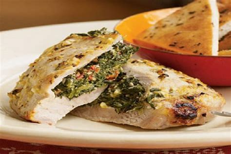 pork chops stuffed with feta and spinach cooking light pork chops stuffed with feta and spinach recipe sparkrecipes