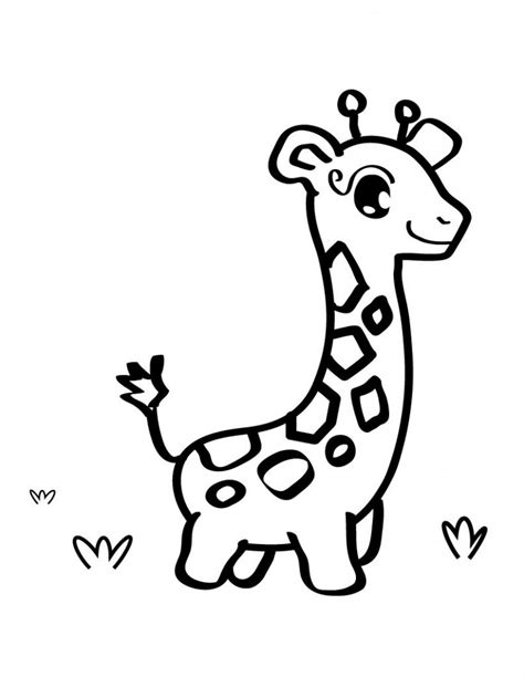 coloring pages of cartoon giraffes free printable giraffe coloring pages for kids