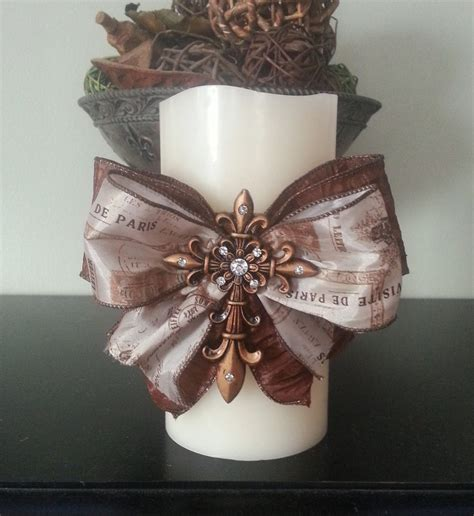 candle decorating ideas with ribbon embellished candle cross ribbon candle cross candle home decor rhinestone candle shabby