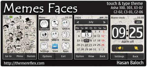 smiley icons theme mobile themes for nokia asha 210 requested theme memes faces theme for nokia asha 300 303