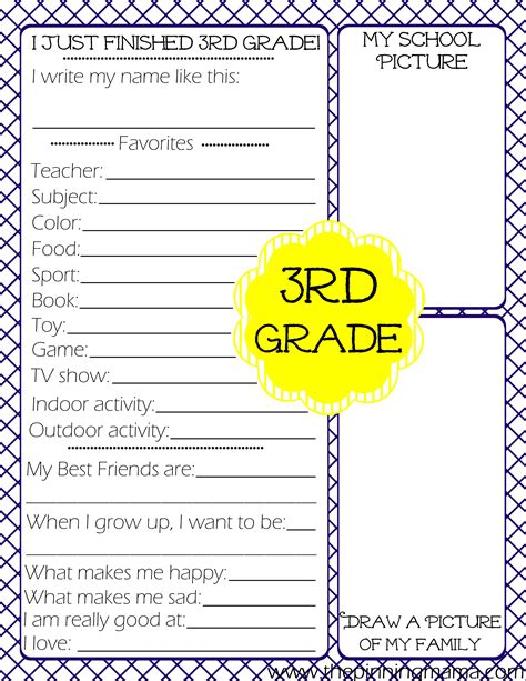 new year activities for third grade free printables kid s end of school year the