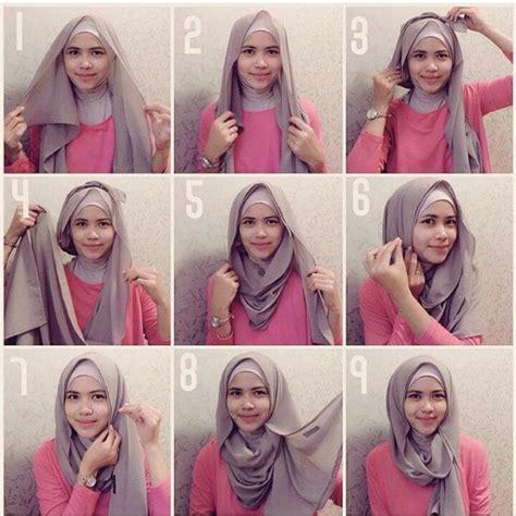 tutorial jilbab segi empat ala natasha farani kumpulan tutorial hijab wanita muslimah yang modern masa kini