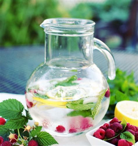 Raspberry Lemon Mint Water Detox by 21 Infused Water Recipes