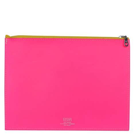 Designers Guilds Scarlet Wallet by Fluoro Pink Large Leather Wallet Designers Guild
