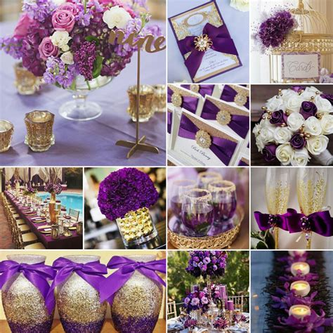 purple and gold wedding colours