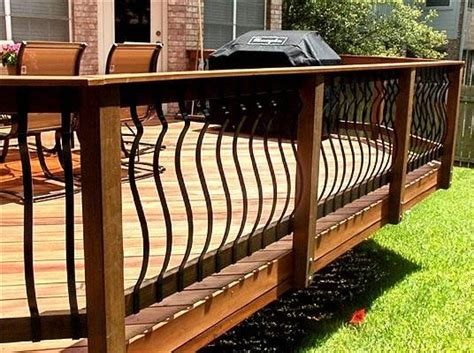 Deck Railing With Iron Spindles 17 Best Images About Deck Railings On Deck